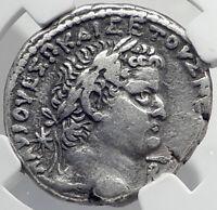 VESPASIAN & TITUS 69AD Silver Antioch Tetradrachm Ancient Roman Coin NGC i80929