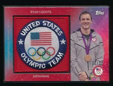 RYAN LOCHTE 2016 TOPPS U.S. OLYMPIC TEAM PATCH RED #USAPRL 11/25