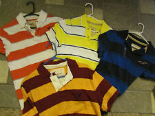 4 HOLLISTER AMERICAN EAGLE SS POLO SHIRTS 2 NWT MENS M STRIPED  FREE SHIP