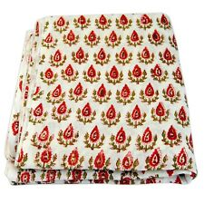 Indian Hand Block Printed Cotton Sewing Voile Fabric Dressmaking 5 Yards HDOFAM