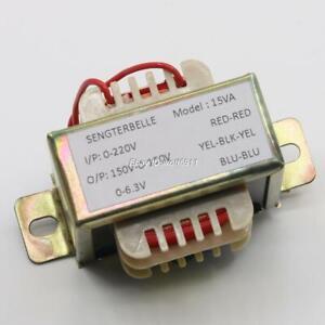 1PC 15W EI Transformer 150V-0-150V + 6.3V For 6N3 Tube Preamplifier Audio