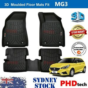 Prime Quality 3D TPE All Weather Floor Mats Liner Fit MG3 MG 3 2014-2021