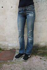 "Meltin 'Pot Jeans ""Nicole"" Damen Faded ausgefranst Blau Denim Bootcut W26 UK8 Look"