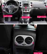 4X stainless Interior Navigation frame+AC Air vent cover for VW Tiguan 2010-2015