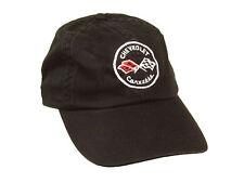 Corvette Hat Black C1 Logo Unstructured