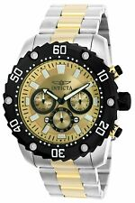 Invicta Mens Pro Diver Quartz Watch W/ Two-Tone-Stainless-Steel Strap, 24