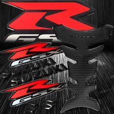 "Perforated Black Pro Gas/Fuel Tank Grip Pad+6"" Logo&Letter+GSXR Emblem Sticker"