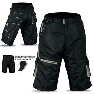 MTB Cycling shorts with Padded inner Lycra liner, Mountain bike shorts