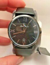 NEW Lucien Piccard LP-10608-01 Unisex Moiry Roman Numerals Black Classy Watch R6