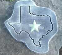 """Texas stepping stone mold concrete plaster mould 11"""" x 11"""" x 1.20"""" Thick"""