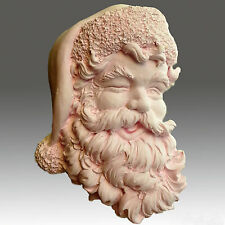 Winking Santa - Detail of high relief sculpture,silicone mold, soap mold