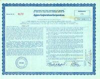 Aspen Exploration Corporation > 1981 oil & gas stock certificate share