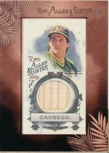 2019 Topps Allen and Ginter Mini Framed Relics #MFRJC Jose Canseco