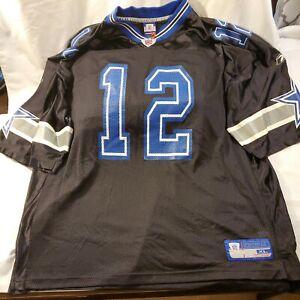 Reebok NFL Equipment Dallas Cowboys Roger Staubach  #12 Football Jersey Men's XL