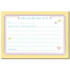 Advice Cards for New Mother at Baby Shower - Set of 24