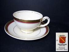 MYOTT TUDOR CUP & SAUCER - HW720 BURGUNDY RED [5]