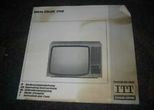 alte TV Bedienungsanleitung ITT