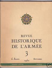 REVUE HISTORIQUE DE L'ARMEE N°3 / 1950  Spécial ALSACE
