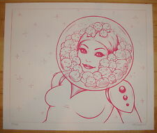 2009 Space Helmet Girl - Silkscreen Art Print S/N by Tara McPherson