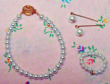 "Basic White Pearl Jewelry Set 14K Cissy Vintage Lady Fashion Doll 18-20"""
