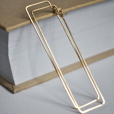 Gold Rectangle Hoop Earrings. Elegant 2 inch Long Hoops. Geometric Earrings