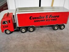CUSSINS & FEARN SERVING ALL OHIO TIN LITHO TOY TRACTOR TRAILER TRUCK RARE