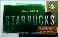 STARBUCKS 2016 DAILY SANDWICH MENU & COFFEE CHALKBOARD COLLECTIBLE GIFT CARD