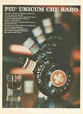 W0599 Amaro digestivo UNICUM Zwack - Pubblicità 1972 - Advertising