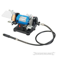 "Silverline 268953 DIY 120W Multi Grinder 75mm 3"" Polisher mini drive shaft bench"