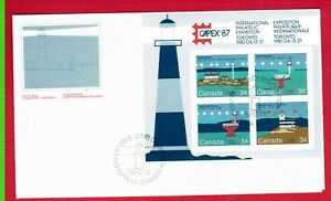 1985 -  FDC  - CANADA STAMPS  NRMn/Mint  # 1066b  CANADIAN LIGHTHOUSES 2 -  JV21