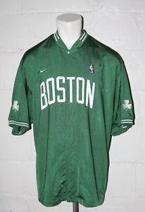 EUC Nike Boston Celtics Green Snap Front Warm Up Jersey Shooting Jacket Sz XL