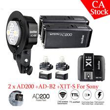 Godox AD200 Pocket Flash 2.4g TTL HSS Double Head Speedlite W/ Battery