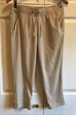 C9 Champion Loose Fit Wide Waistband Quick Dry Capri Gym Travel Pants Khaki Sz S