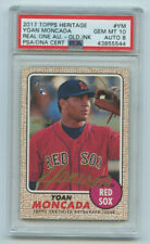 2017 TOPPS HERITAGE YOAN MONCADA GOLD AUTOGRAPH /25 GEM MT 10 AUTO 8 RED SOX