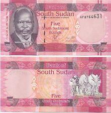 Sur de sudán/southsudan - 5 pounds (2011) de UNC pick 6