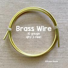 10 Gauge Brass Wire, 3 Feet