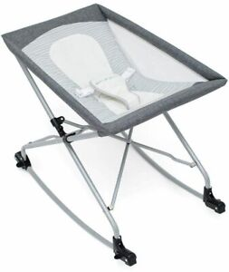 Baby Delight Sway Portable Infant Bassinet Rocker with carry bag new GREY      W