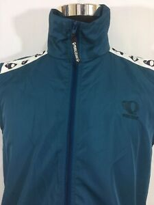 Pearl Izumi Men Medium Turquoise Mesh Sleeveless Windbreaker Vest Cycling Jacket