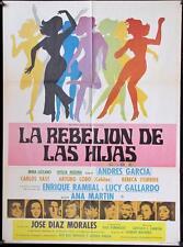 452 LA REBELION DE LAS HIJAS original Mexican movie poster 1970 Irma Lozano,