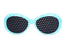 Kids Blue Frame Fashion Pinhole Corrective Eye Fatigue Relief Glasses