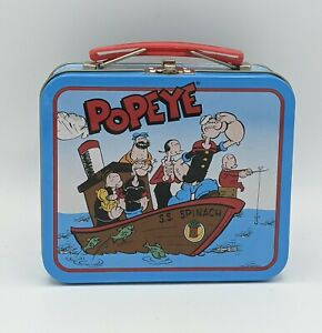 1997 Popeye and Olive Oyl On S.S. Spinach Commemorative Tin Lunch Box