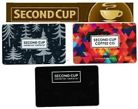 SECOND CUP points gift card ☕🍰🍵 restaurant cafeteria Canada collectible