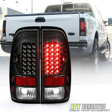 Black 1997-2003 Ford F150 99-07 F250 F350 SuperDuty LED Tail Lights Brake Lamps