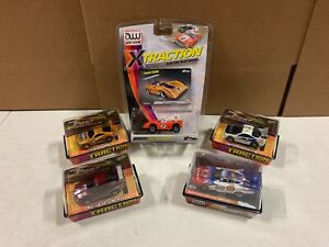 Auto World Johnny Lightning X Traction 5 Slot Car Bundle F&F Funny Car #E111