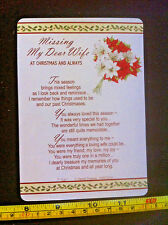 Missing My Dear Wife At Christmas And Always Poem Plastic Gift Card New
