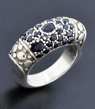 John Hardy 925 Sterling Silver Black Sapphire Ring Size 6.5