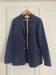 Mens UNIVERSAL WORKS cotton unstructured Jacket blazer size M blue summer