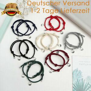 Couple Armband Pärchen Valentinstag Magnet Partner Liebe 2 Teilig Schmuck Paar