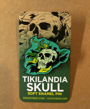 Tikilandia Playing Cards Skull Soft Enamel Pin Tiki Bar Flair Badge