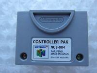 *GREAT* Nintendo 64 N64 Video Game Memory Card Controller Pak OEM SAVES Tested